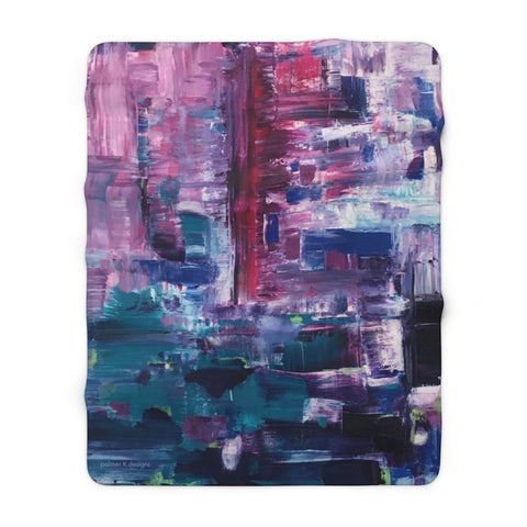 "Sherpa Fleece Blanket - ""Pulse"""