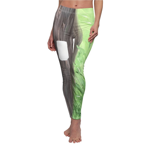 "Women's Leggings - ""White Blaze"""