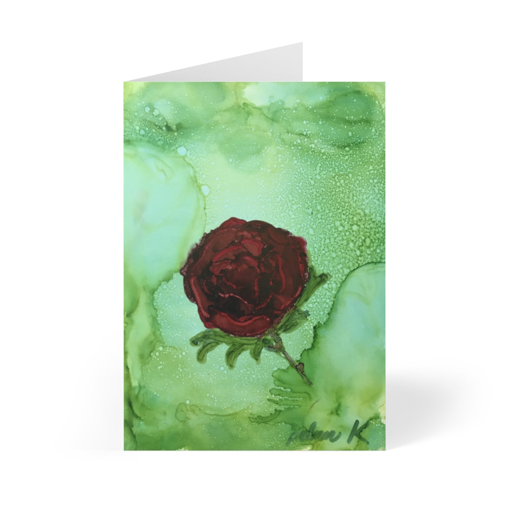 "Greeting Cards (8 pcs) - ""The American Beauty"""