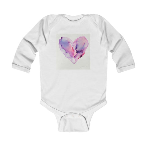 "Infant Long Sleeve Bodysuit - ""Elastic Heart"""