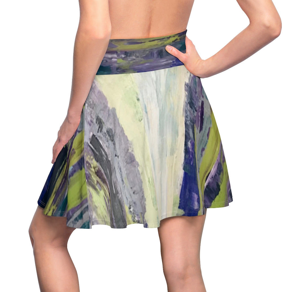 "Women's Skater Skirt - ""Emerald City"""