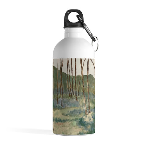 "Stainless Steel Water Bottle - ""Wintergreen Woods"""