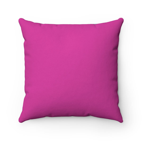 "Spun Polyester Square Pillow - ""In Between"" in Pink"