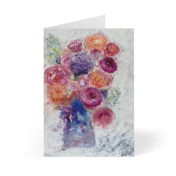 "Greeting Cards (8 pcs) - ""Blossoms Blooming"""