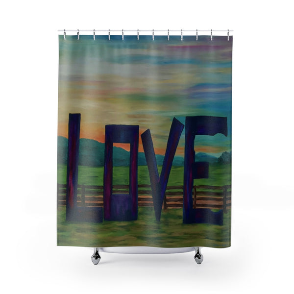 "Shower Curtain - ""Lock in Love"""