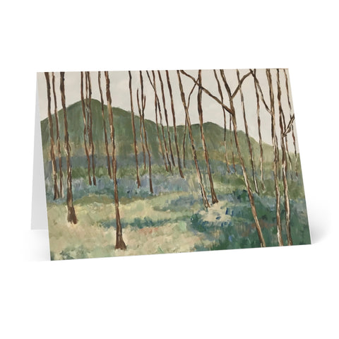 "Greeting Cards (8 pcs) - ""Wintergreen Woods"""