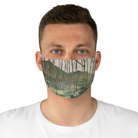 "Fabric Face Mask - ""Wintergreen Woods"""