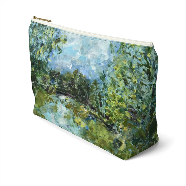 "Accessory Pouch w T-bottom - ""Serenity"""