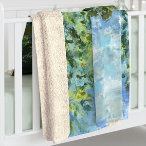 "Sherpa Fleece Blanket - ""Serenity"""