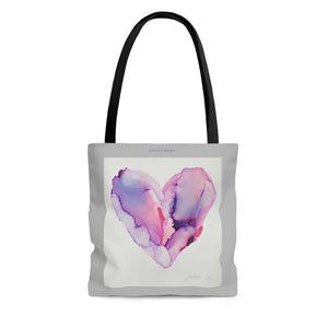 "AOP Tote Bag - ""Elastic Heart"""