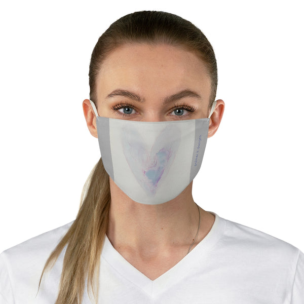 "Fabric Face Mask - ""Whole Blue Heart"""