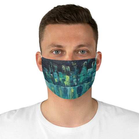 "Fabric Face Mask - ""Emerald Nights"""