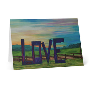 "Greeting Cards (8 pcs) - ""Lock in Love"""