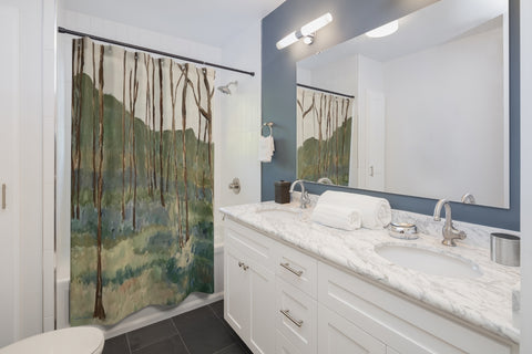 "Shower Curtains - ""Wintergreen Woods"""