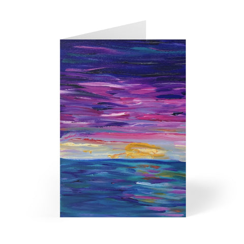 "Greeting Cards (8 pcs) - ""Sunset One"""