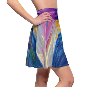 "Women's Skater Skirt - ""Sunset One"""