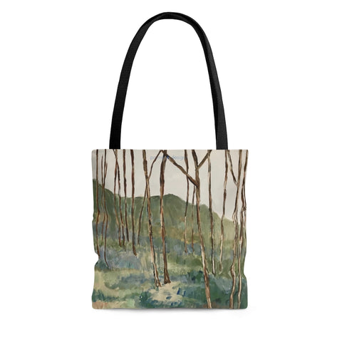 "AOP Tote Bag - ""Wintergreen Woods"""