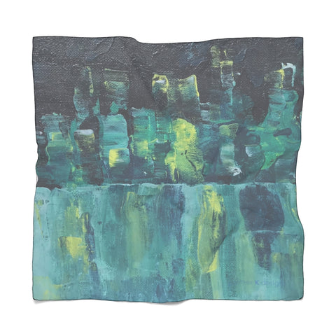 "Poly Scarf - ""Emerald Nights"""