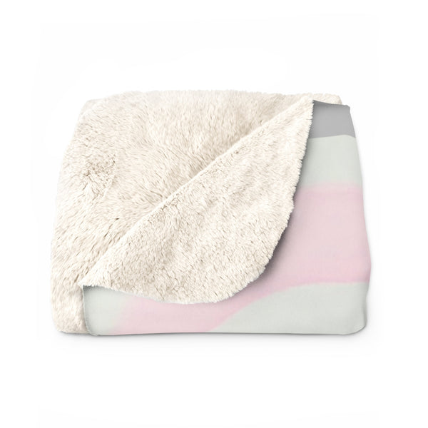 "Sherpa Fleece Blanket - ""Perfectly Imperfect"""
