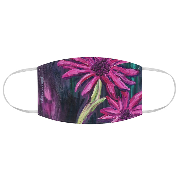 "Fabric Face Mask - ""Dahlia's at Night"""