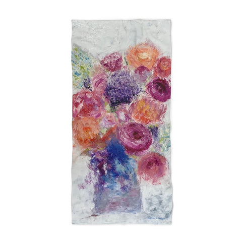 "Beach Towel - ""Blossoms Blooming"""