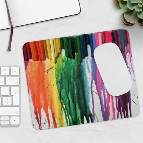 "Mousepad - ""Crayon Rains"""