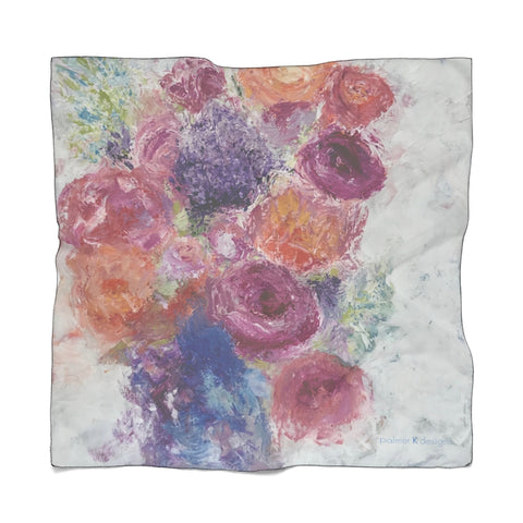 "Poly Scarf - ""Blossoms Blooming"""