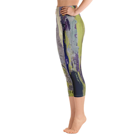 "Yoga Capri Leggings - ""Emerald City"""