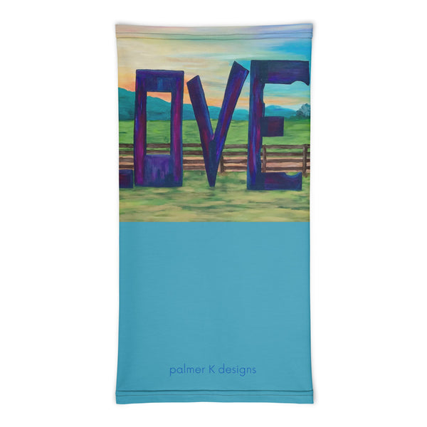 "Neck gaiter - ""Lock in Love"" in Blue"
