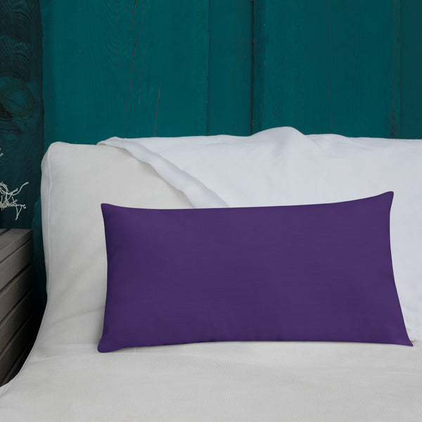 "Premium Pillow - 20 x 12 ""Lock in Love"" in Purple"