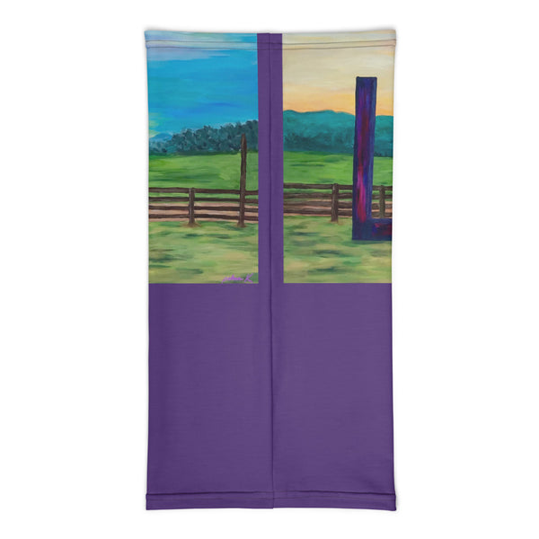 "Neck gaiter - ""Lock in Love"" in Purple"
