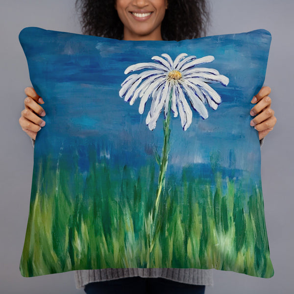 "Basic Pillow - ""Hope"" in Royal Blue"