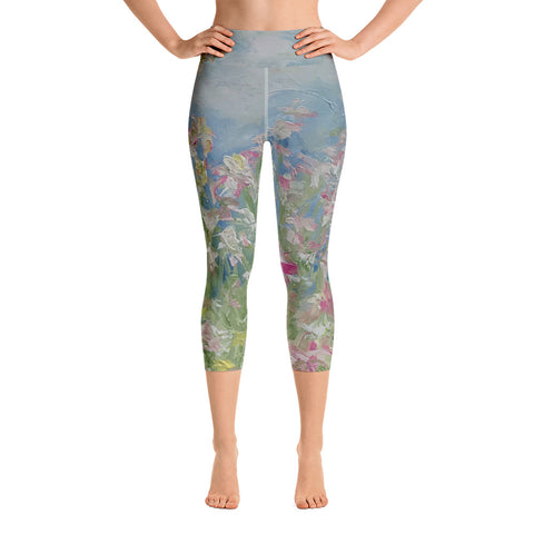 "Yoga Capri Leggings - ""Endless Summer"""