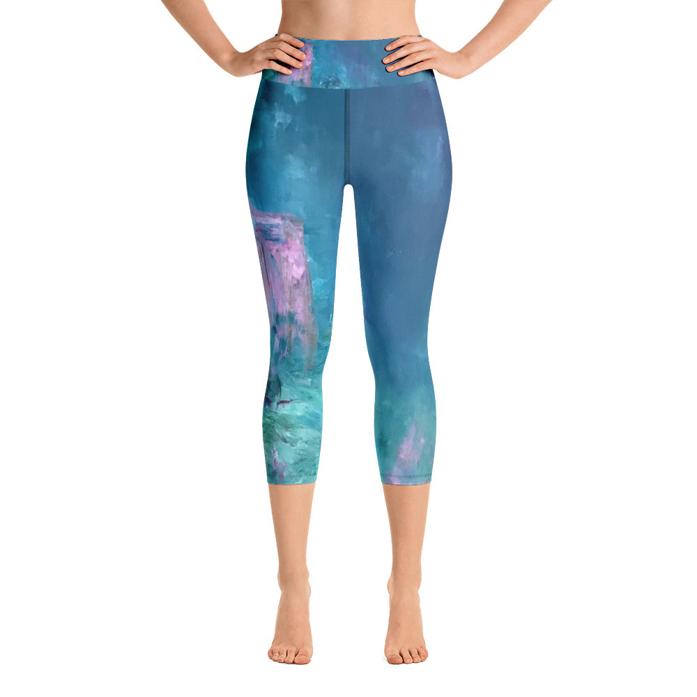 "Yoga Capri Leggings - ""Stairway to Heaven"""