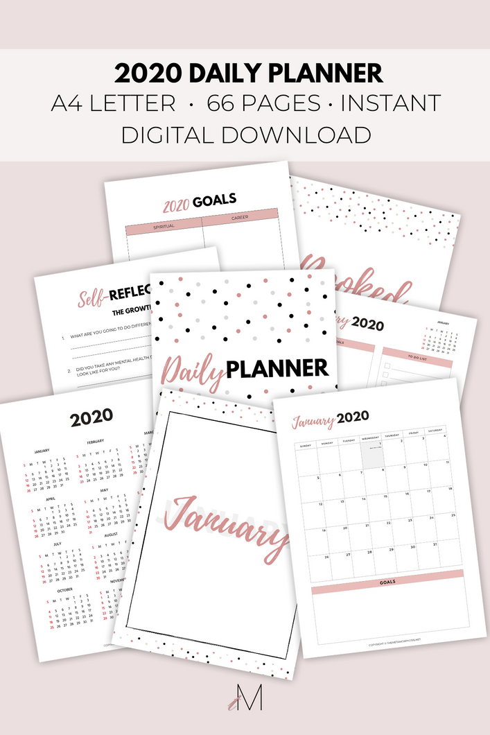 2020 Daily Planner {66+ Pages + Sun/Mon Weeks}