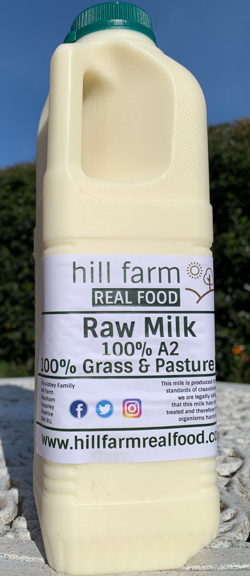 Raw A2 Grass Fed milk, 1 litre bottle