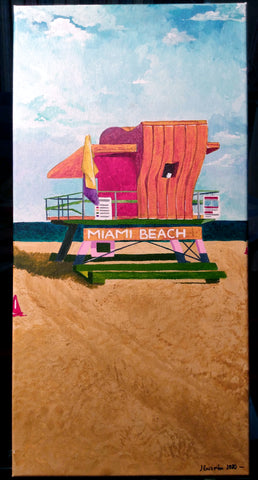 Miami Beach Acrylic on canvas