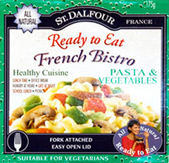 St. Dalfour Ready to Eat French Bistro Pasta & Vegetable Salad