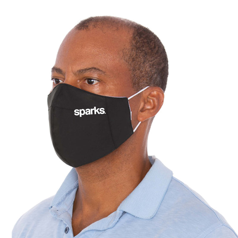Branded Three Layer Black Protective Mask - 10,000 Unit Minimum for Each Size Branded Mask Order