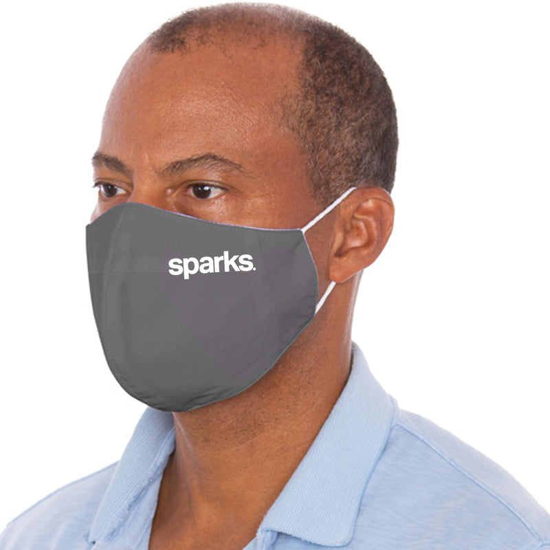 Branded Three Layer Gray Protective Mask - 1,000 Unit Minimum for Each Size Branded Mask Order