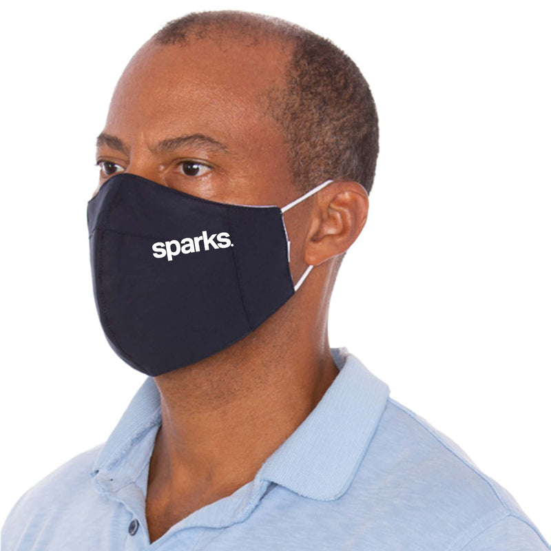 Branded Three Layer Navy Protective Mask - 1,000 Unit Minimum for Each Size Branded Mask Order