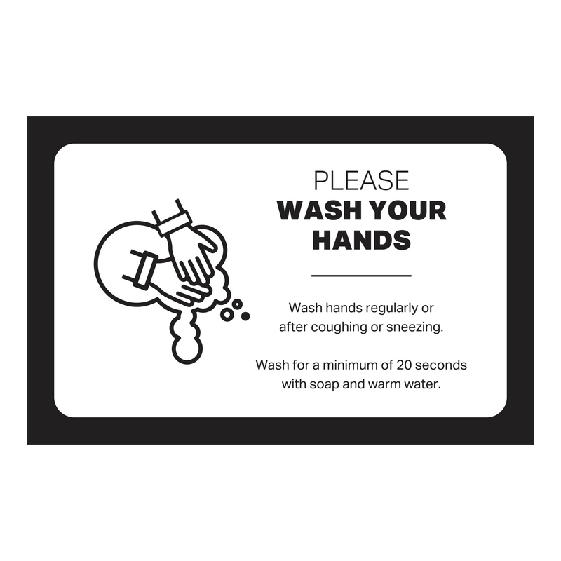 "Double-Sided Table Top Tent Sign - Please Wash Your Hands - (1) 8 1/2"" x 5"" Graphic"