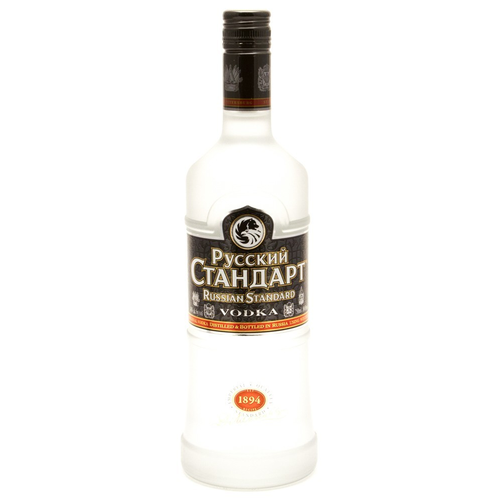 Pyccknn Стандарт Russian Standard Imperial Quality 1894 Vodka Distilled & Bottled in Russia - 750 ml - Ramona Liquor