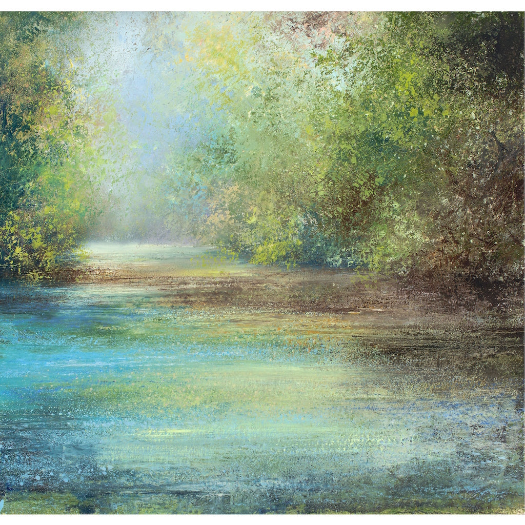 Limited edition print of river and foliage in Cornwall by artist Amanda Hoskin