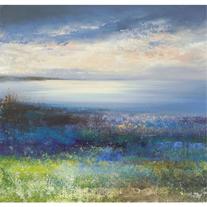Limited edition print of Mount's Bay, Cornwall by artist Amanda Hoskin