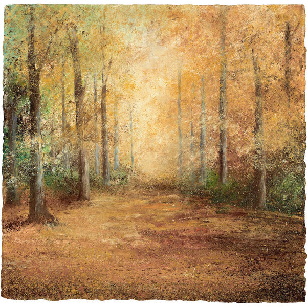 Limited edition print of autumn woodland in Cornwall by artist Amanda Hoskin