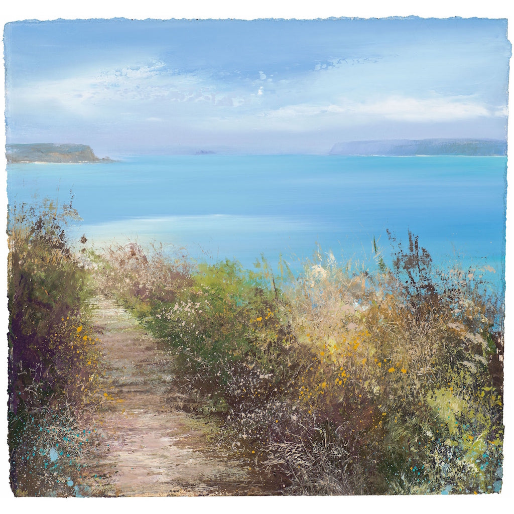Limited edition print of Daymer Bay, Cornwall by artist Amanda Hoskin