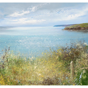 Limited edition print of the coast near Fowey, Cornwall by artist Amanda Hoskin
