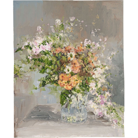 Limited edition print of still life flowers by artist Amanda Hoskin