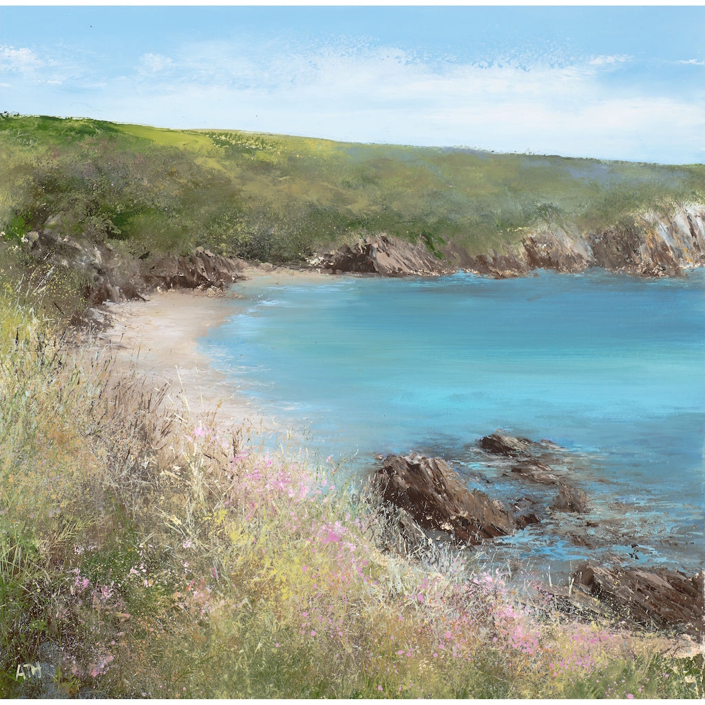 Limited edition print of Polridmouth, Cornwall by artist Amanda Hoskin